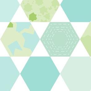 Spring Hexagons