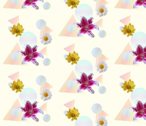 Shapes & Flowers fabric by jamiepowell on Spoonflower - custom fabric