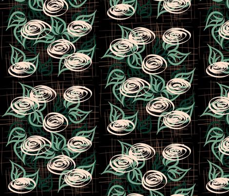 Midsummer rose fabric by endla on Spoonflower - custom fabric