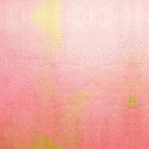 Gold and Pink Paint Spill Abstract Art