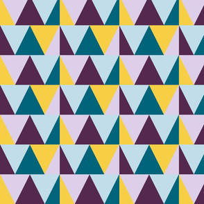 triangles // purple and teal