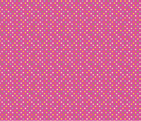 Alice_yardage_pink_dots fabric by quilterkimie on Spoonflower - custom fabric
