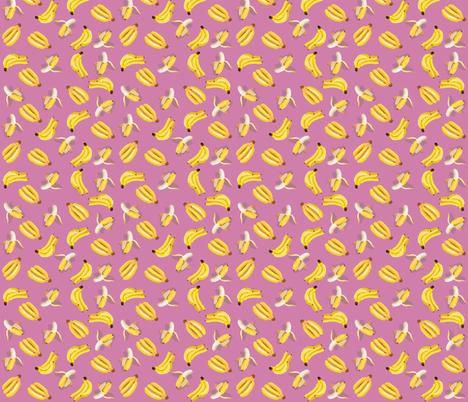 pink bananas fabric by annaboo on Spoonflower - custom fabric