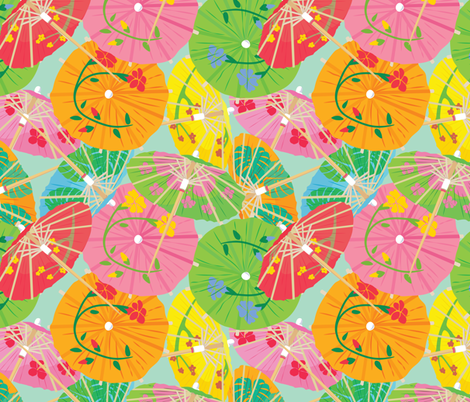 umbrella, ella, ella fabric by annaboo on Spoonflower - custom fabric