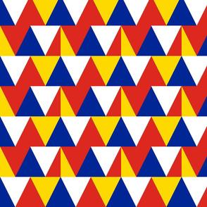 triangles // colorado flag colors