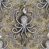 Octopus Damask - Parchment