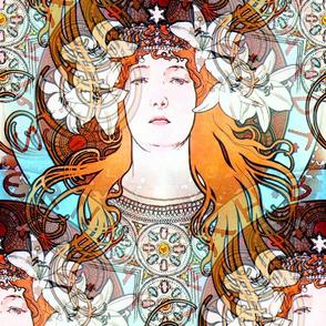 1897 Sarah Bernhardt as La Princesse Lointaine