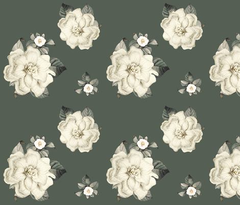 Happily Ever After / Olive Green fabric by shopcabin on Spoonflower - custom fabric