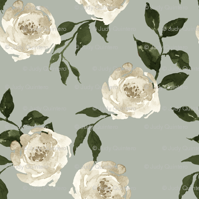 """10.5"""" Gypsy Heart /  Taupe & Olive / Green Background"""