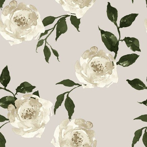 "10.5"" Gypsy Heart /  Taupe & Olive / Med. Taupe Background"