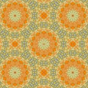 Orange and blue calico
