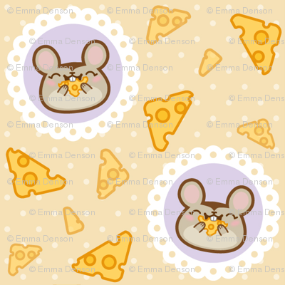 WoodMouse Eatin' Cheese