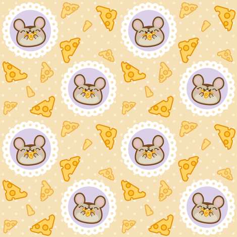 WoodMouse Eatin' Cheese fabric by woodmouse&bobbit on Spoonflower - custom fabric