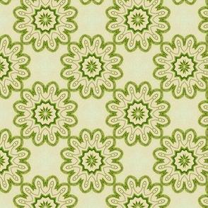Green interlock blooms
