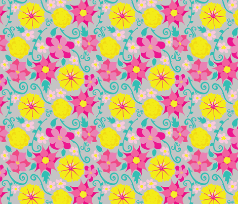 Paper Flowers fabric by everhigh on Spoonflower - custom fabric