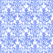 White & Lavender Damask Small