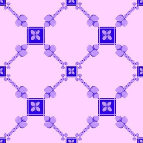 Spoonflower Trellis in blue and lavender