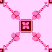 Spoonflower Trellis in Red and Pink