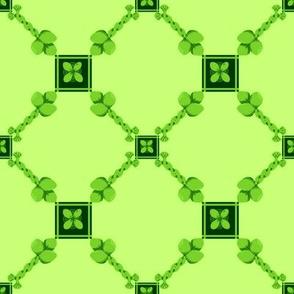 Spoonflower Trellis in Lime Green