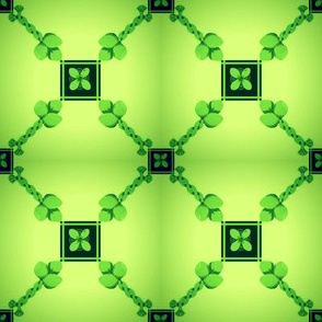 Spoonflower Trellis in Lime Green on shadowed background