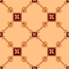 Spoonflower Trellis in Burnt Orange