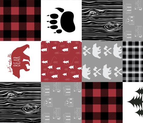 Little_Lumberjack__rotated_90__cheater_quilt fabric by buckwoodsdesignco on Spoonflower - custom fabric