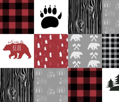 Little_Lumberjack_cheater_quilt fabric by buckwoodsdesignco on Spoonflower - custom fabric