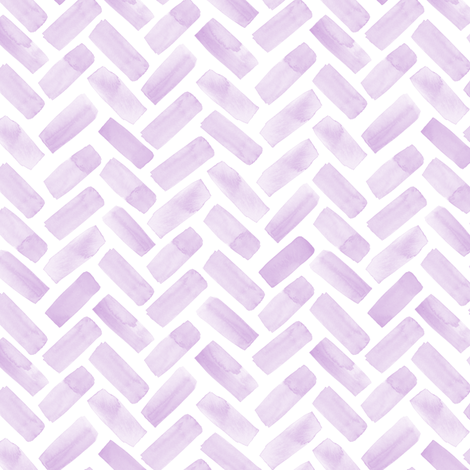 (small scale) watercolor herringbone - lilac fabric by littlearrowdesign on Spoonflower - custom fabric