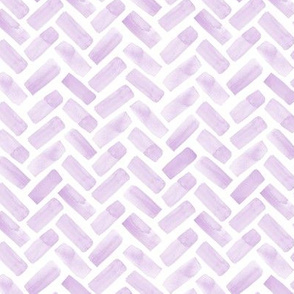 (small scale) watercolor herringbone - lilac