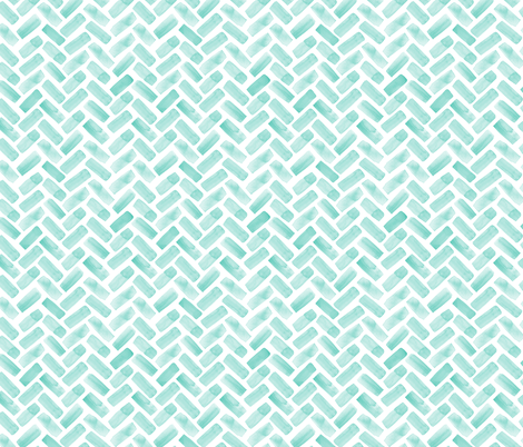 (small scale) watercolor herringbone - green fabric by littlearrowdesign on Spoonflower - custom fabric