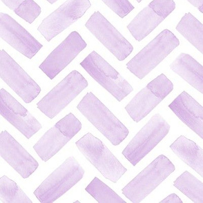 watercolor herringbone - lilac