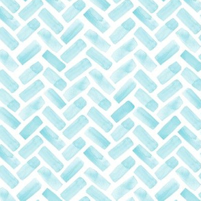 (small scale) watercolor herringbone (blue)