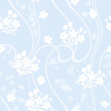 Etta pale blueberry fabric by lilyoake on Spoonflower - custom fabric
