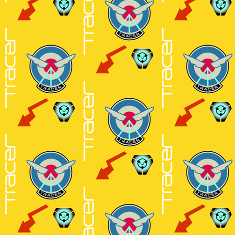 Cavalry's Here (yellow) fabric by bmdstudios on Spoonflower - custom fabric