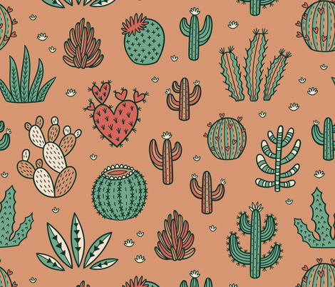 Succulents fabric by penguinhouse on Spoonflower - custom fabric