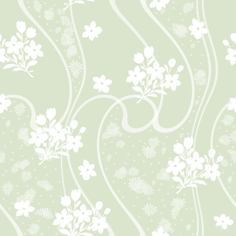 Etta basil fabric by lilyoake on Spoonflower - custom fabric