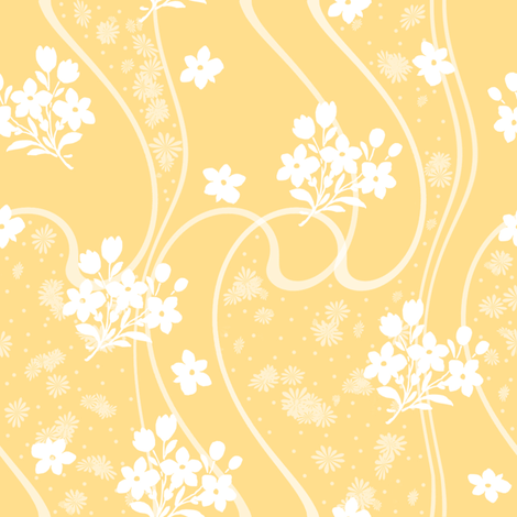 Etta citrus fabric by lilyoake on Spoonflower - custom fabric