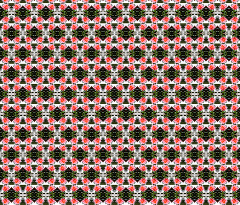 Trellised Pink Rose Checkerboard,  XS fabric by maryyx on Spoonflower - custom fabric