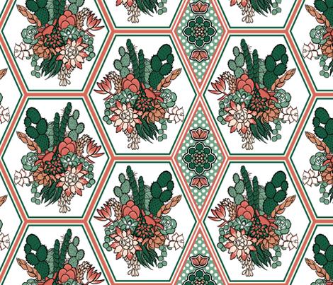 Succulents fabric by jadegordon on Spoonflower - custom fabric