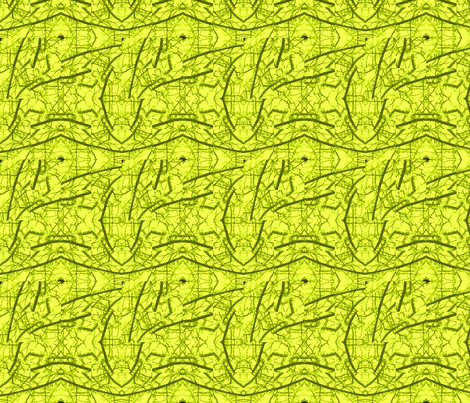 Chartreuse lines fabric by twigsandblossoms on Spoonflower - custom fabric