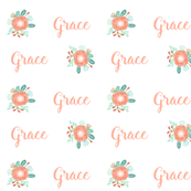 girls floral personalized fabric