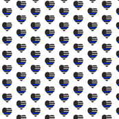 Thin Blue Line Flag Heart