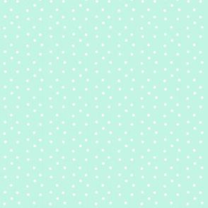 Polka Dots Small- mist/white