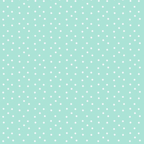 Polka Dots Small- mint white
