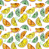 Zest for Life Citrus Fruit Print