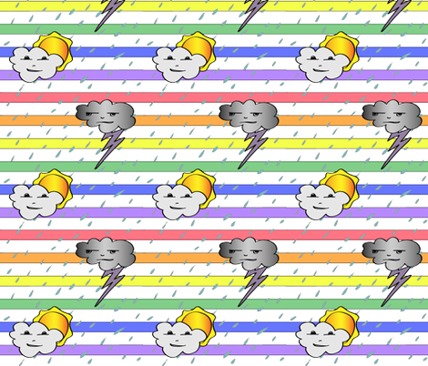 Storm and Sunshine fabric by eva_yapuncich on Spoonflower - custom fabric