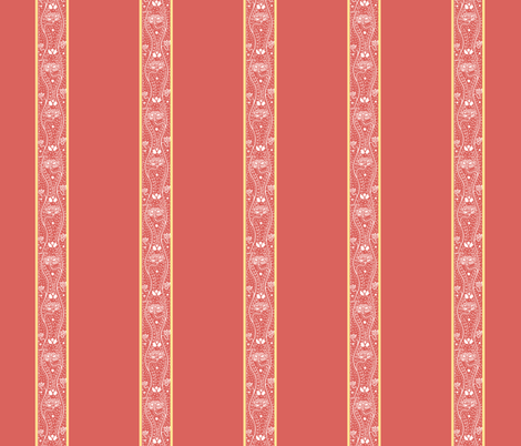 Pompeii Rose Stripe fabric by amyvail on Spoonflower - custom fabric