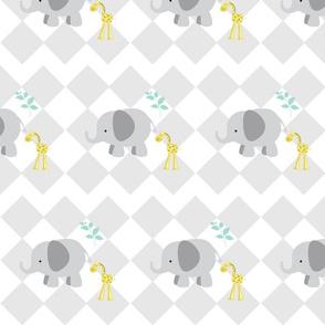 elephant diamond chevron  gray