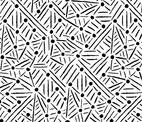 """Lines """"Drawn to"""" Circles - Black & White fabric by suz_pozzo on Spoonflower - custom fabric"""
