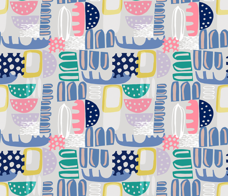 Summer Geo Muted fabric by slumbermonkey on Spoonflower - custom fabric